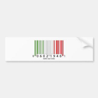 De Italiaanse Vlag van de Streepjescode Bumpersticker