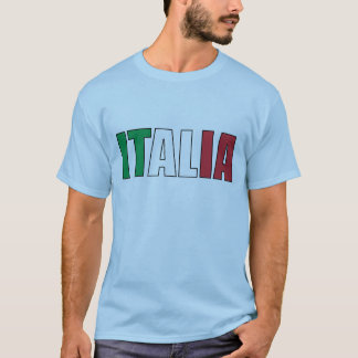 De Italiaanse Vlag van Italië T Shirt