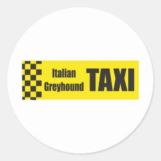 De Italiaanse Windhond van de taxi Ronde Sticker