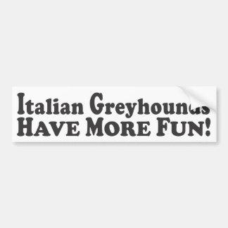 De Italiaanse Windhonden hebben Meer Pret! - De St Bumpersticker
