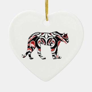 De jaagster keramisch hart ornament