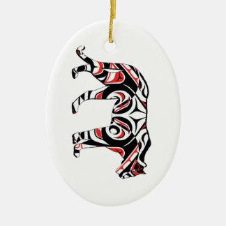 De jaagster keramisch ovaal ornament