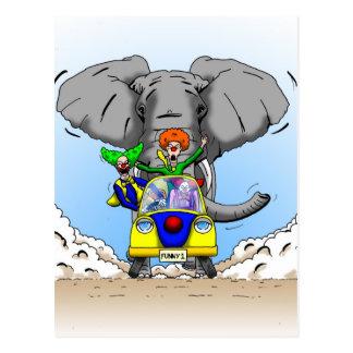 De Jacht van de Clown van de cartoon door Ben Briefkaart