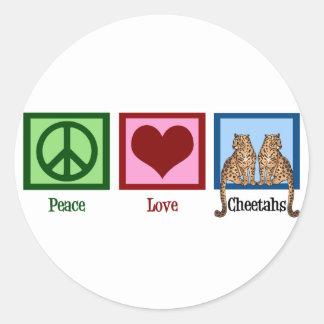 De Jachtluipaarden van de Liefde van de vrede Ronde Sticker