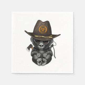 De Jager van de Zombie van de Gorilla van het baby Papieren Servet