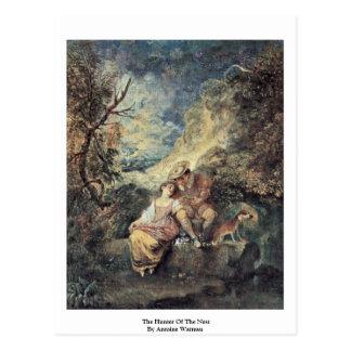 De jager van het Nest door Antoine Watteau Briefkaart