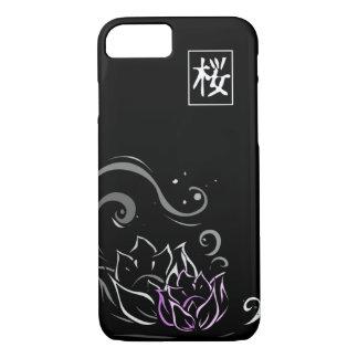 De Japanse Doopvont van de Bloem van Lotus op iPhone 8/7 Hoesje