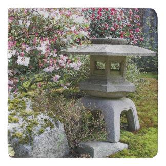 De Japanse Foto van de Lantaarn van de Tuin Trivet