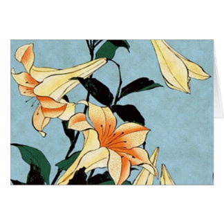 De Japanse Lelies van Hokusai Notitiekaart