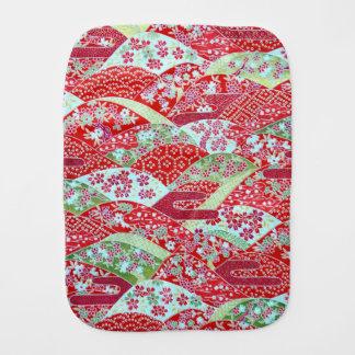De Japanse Rode BloemenOrigami Yuzen van de Kunst Spuugdoekje