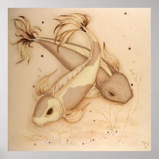 De Japanse Vissen die van de Karper van Koi de Poster