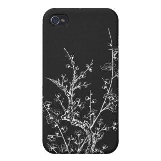 De Japanse Wilde Bloesems keerden Zwarte om iPhone 4/4S Hoesjes