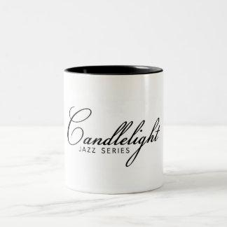 De Jazz #candlelightjazz CoffeeMug van het Tweekleurige Koffiemok