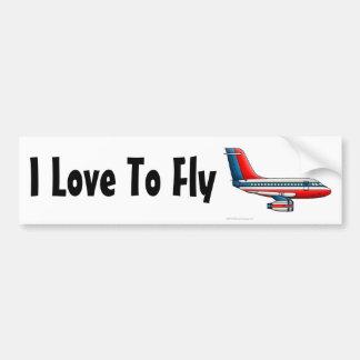 """""""De Jet van de Passagier van het vliegtuig, houd v Bumpersticker"""