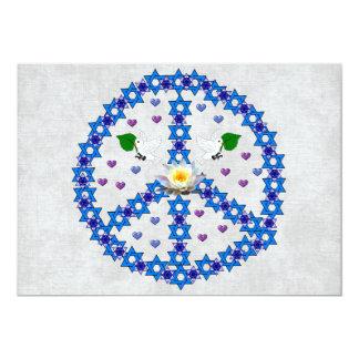 De Jodenster van de vrede 12,7x17,8 Uitnodiging Kaart