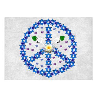 De Jodenster van de vrede Custom Uitnodging