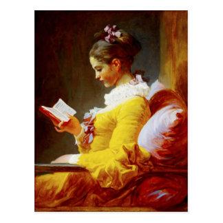 De jonge Lezing van het Meisje - de 18de eeuw het Briefkaart