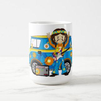 De Jongen van de hippie met de Bestelwagen van de Koffiemok