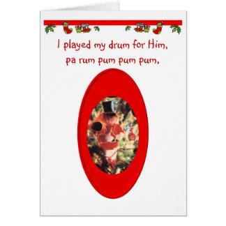De Jongen van de Slagwerker van Kerstmis Briefkaarten 0