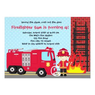De Jongen van de Vrachtwagen van de Brandweerman Kaart