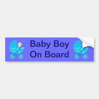 De Jongen van het baby aan boord van de Sticker va Bumpersticker