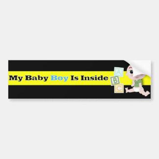 De Jongen van het baby in Auto Bumpersticker