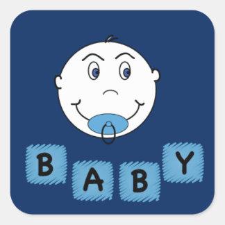 De Jongen van het baby met Binkyy Vierkant Sticker