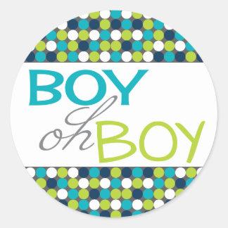 De Jongen van het baby om gunststickers Ronde Stickers