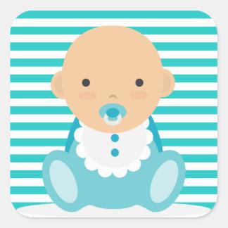 De Jongen van het baby ook Vierkant Stickers