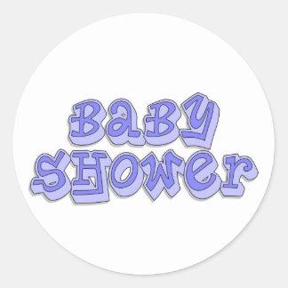 De Jongen van het baby shower Ronde Sticker