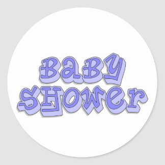 De Jongen van het baby shower Ronde Stickers