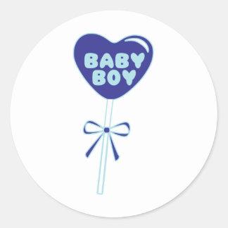 De Jongen van het baby Ronde Stickers