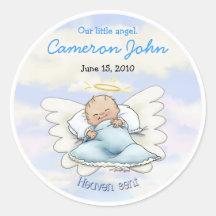 De Jongen van het Baby van de engel - verzonden He Sticker