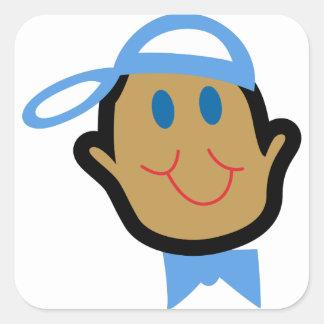 De Jongen van het Baby van de stok Vierkante Sticker