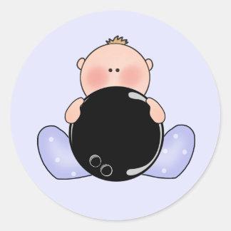 De Jongen van het Baby van het Kegelen van Lil Ronde Stickers