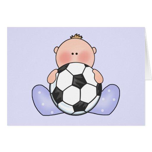 De jongen van het baby van het voetbal van lil kaarten zazzle - Turquoise ruimte van de jongen ...