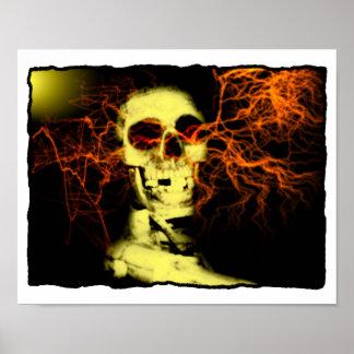 De Jongen van het skelet is Elektrisch Poster