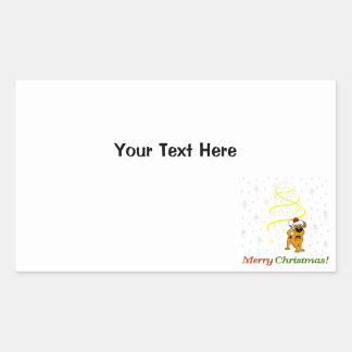 De Jongen van Kerstmis Rechthoekige Sticker