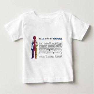 De Jongen van sleutelwoorden Baby T Shirts