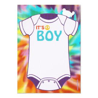 De Jongens van de Uitnodigingen van het Baby
