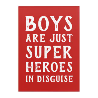 De jongens zijn enkel Super Held in het Art. van Acryl Muurkunst