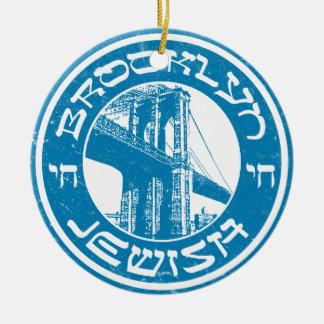 De Joodse Decoratie van Brooklyn New York Rond Keramisch Ornament
