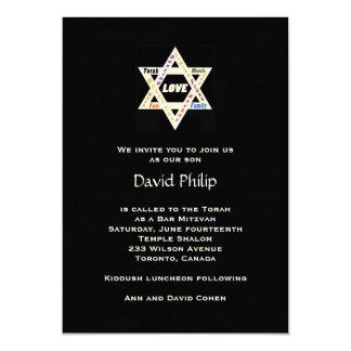 De Joodse Uitnodiging van Mitzvah van de Bar van