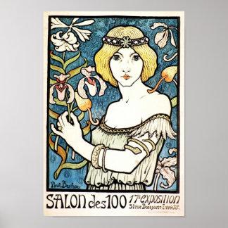 De Jugendstil van Paul Berthon Salon Des Cent Poster