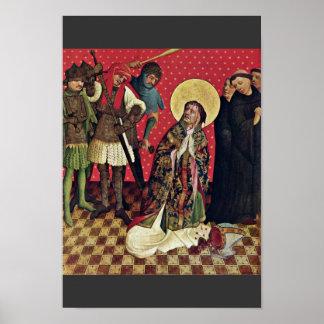 De Juiste BuitenVleugel Scen van Thomas Altar Poster