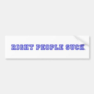 De juiste Mensen zuigen de Sticker van de Bumper