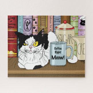 De Juiste Miauw van de koffie!! Puzzel
