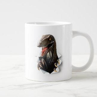 De JumboMok van de Dinosaurus van Velociraptor Grote Koffiekop