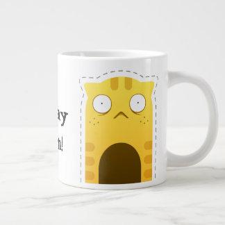 De jumbomok van de Kat van de maandag Grote Koffiekop