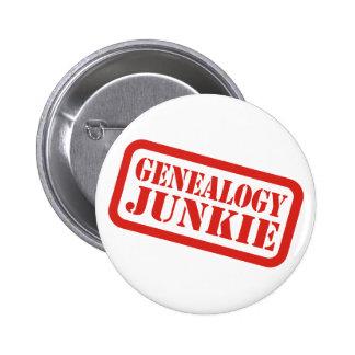 De Junkie van de genealogie Ronde Button 5,7 Cm